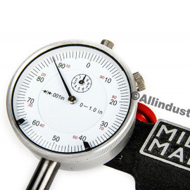 "Mighty Mag MIG-400-1-SET | 0-1"" Dial Indicator Combo Set Inspection Holder Magnetic Base Kit"