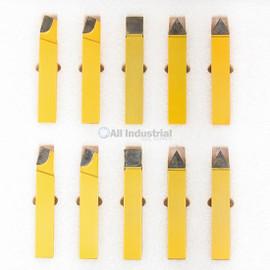 "All Industrial 19880 | 20pc 3/4"" C2 & C6 Carbide-Tipped Tool Bit Set Single Point Brazed Lathe Kit"