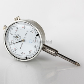"All Industrial 52000 | 1"" Dial Indicator 0.001"" Graduation Travel Lug Back White Face"