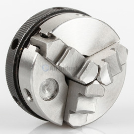 """All Industrial 47704   Self-Centering Lathe Chuck Plain Back 2"""" 3-Jaw 3/4""""-16 Hardened"""