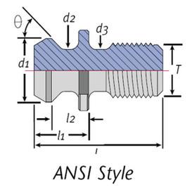 Techniks 21003-C | CAT40-ANSI-C 45 Retention Knob