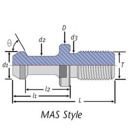Techniks 21003-60   CAT40-MAS-II 60 Retention Knob