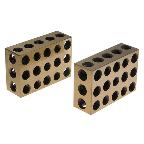 All Industrial 55510 | 1 Pair Ultra Precision TiN Coated 1-2-3 Blocks