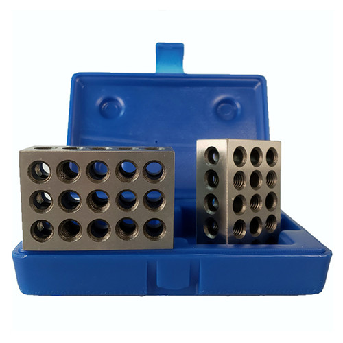 "All Industrial 55502 | 23 Hole Ultra Precision .0001"" Tolerance 1-2-3 Blocks with Case"