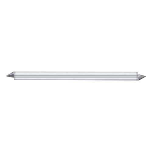 "Fullerton Tool 12109   1/8"" Diameter x 1/8"" Shank x 1/8"" LOC x 2"" OAL 1 Flute TiAlN Solid Carbide Radius End Mill"
