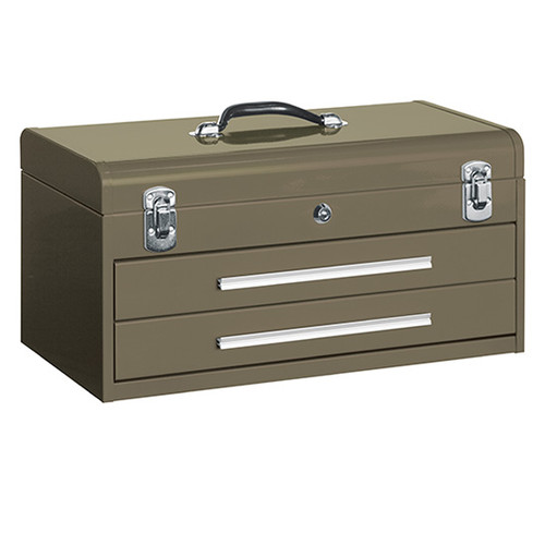 "Kennedy 220B | 20"" Hand-Carry Brown Wrinkle 2-Drawer Tool Box"
