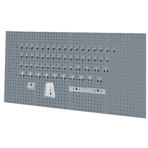 Kennedy 50004UGY   4-Panel Industrial Utility Gray Toolboard with 60 Pc. Toolholder Set