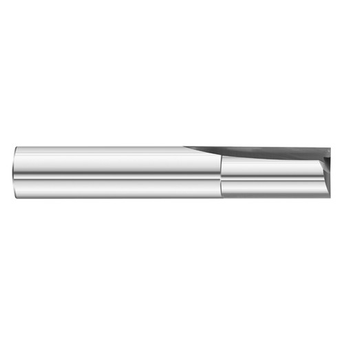 "Fullerton Tool 12147 | 7/16"" Diameter x 7/16"" Shank x 1"" LOC x 2-3/4"" OAL 2 Flute Uncoated Solid Carbide Square End Mill"