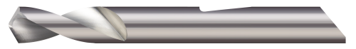 """Micro 100 QSPD-035-120   0.0350"""" Diameter x 120 Degree Point Angle x 1-1/2"""" OAL Uncoated Carbide Quick Change Spotting Drill"""