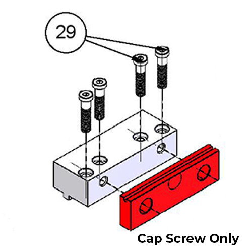 Kurt 00-3392 | #29 Low Cap Screw Replacement Part for Kurt DX6 Vise
