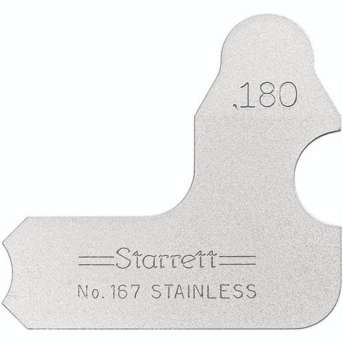 Inch Starrett 167-5//16 Stainless Steel Radius Gauge 5//16 Radius