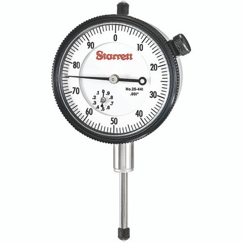 "Starrett 25-441P | 1"" Dial Indicator 0.0010"" Graduation White Dial"