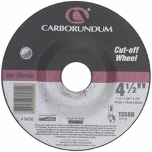 "Carborundum 05539561575 | 7"" Diameter x 7/8"" Hole Size x 1/4"" Thickness Extra Coarse 24 Grit Aluminum Oxide Type 27 Depressed Center Wheel"