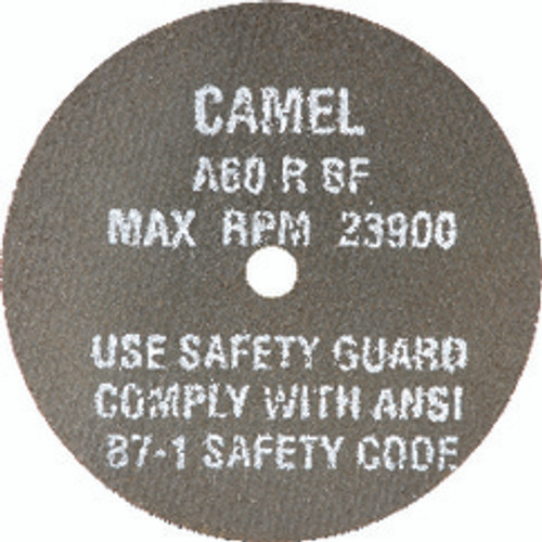 "CGW 35505   3"" Diameter x 3/8"" Hole x 1/8"" Thickness 25000 RPM 24 Grit Reinforced Aluminum Oxide Type 1 Cutoff Wheel"