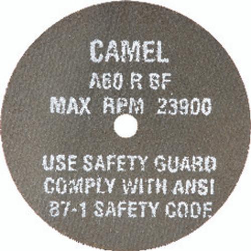 "CGW 35512 | 4"" Diameter x 3/8"" Hole x 1/8"" Thickness 19100 RPM 24 Grit Reinforced Aluminum Oxide Type 1 Cutoff Wheel"