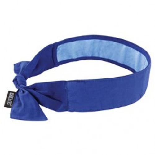 Ergodyne 12567   Blue Solid PVA Cooling Bandana