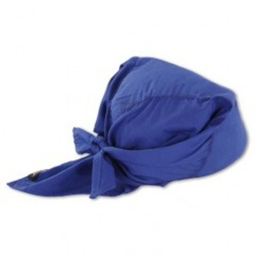 Ergodyne 12587 | Blue Solid Cotton, PVA Cooling Triangle Hat