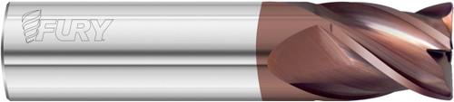12mm Diameter x 12mm Shank x 50mm LOC x 100mm OAL 4 Flute FC20 Solid Carbide Radius End Mill Fullerton Tool 35395