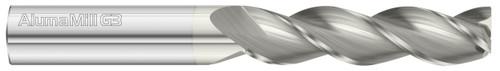 Fullerton Tool 93047 | 8mm Diameter x 8mm Shank x 50mm LOC x 100mm OAL 3 Flute FC5 Solid Carbide Square End Mill