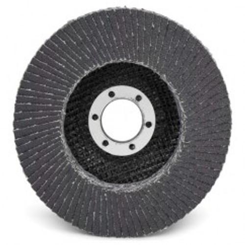 """3M 00051141554235   4-1/2"""" Diameter 60 Grit Medium Grade Zirconia Alumina Coated Type 29 Arbor Flap Disc"""