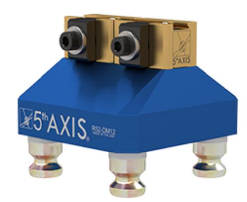 5th Axis R52-DM12   RockLock 52mm Top Tooling - DM12 Includes: 1ea: R52-DM12-1 [Riser] 1ea: DM12 [Fixture] 4ea: PS16F [Pull Studs]