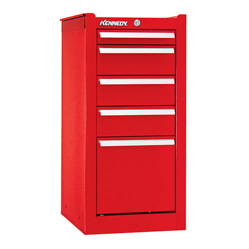 "Kennedy 205XR | 13-5/8"" 5-Drawer Red Hang-On Cabinet"