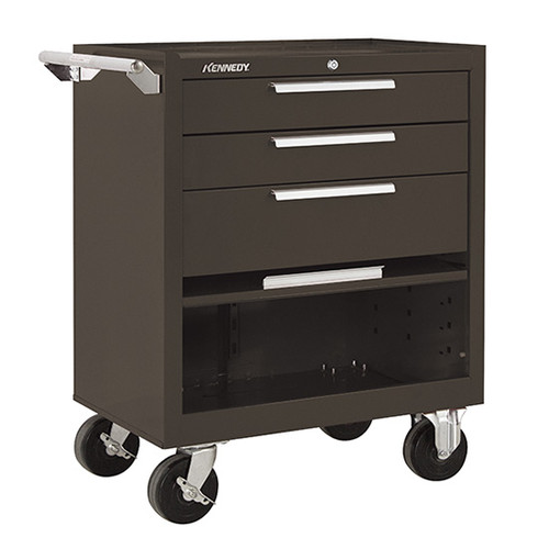 "Kennedy 273XB | 27"" 3-Drawer Roller Brown Cabinet"