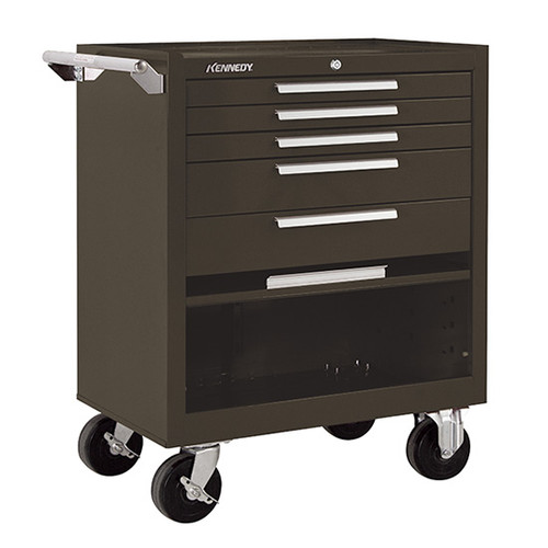 "Kennedy 295XB | 29"" 5-Drawer Roller Brown Cabinet"