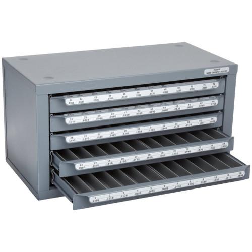 Huot 13040 | Wire Gauge Sizes #1-80 Drill Dispenser Organizer Cabinet Holder