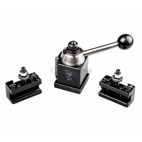 Aloris MXA-IP | Miniature Ultra-Precision MXA Quick Change Tool Post Intro-Pro Set 2 Holders
