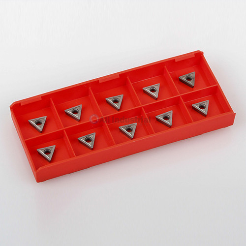 "All Industrial 20210 | TCMT C6 Uncoated Carbide Inserts for 1/4 & 5/16"" Turning Tools 10/Pk"