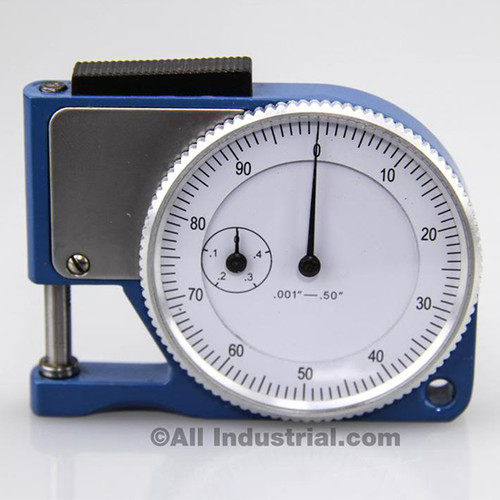 """All Industrial 52070   Pocket Thickness Gage 0-0.050"""" Range 0.001"""" Graduation Dial Indicator Gauge"""