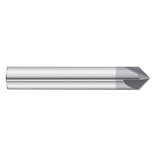 """DOUBLE END TiALN COATED 1//2/"""" 4 FLUTE 90 DEGREE CARBIDE CHAMFER MILL"""