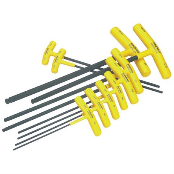 Bondhus 13138 | 10pc Cushioned Grip T-Handle Hex Tool Set