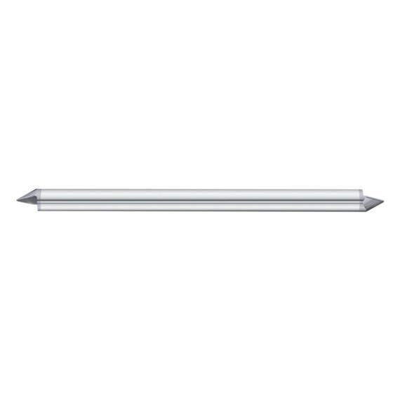 "Fullerton Tool 12109 | 1/8"" Diameter x 1/8"" Shank x 1/8"" LOC x 2"" OAL 1 Flute TiAlN Solid Carbide Radius End Mill"