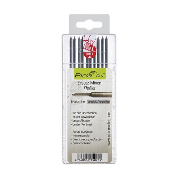 Pica 4030/SB | 2.8mm Dry Water Soluble Multi-Use Graphite Lead Refills 10/pk