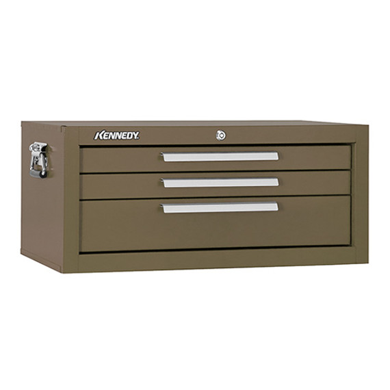 "Kennedy 2603B | 27"" 3-Drawer Brown Wrinkle Mechanics' Base Cabinet"