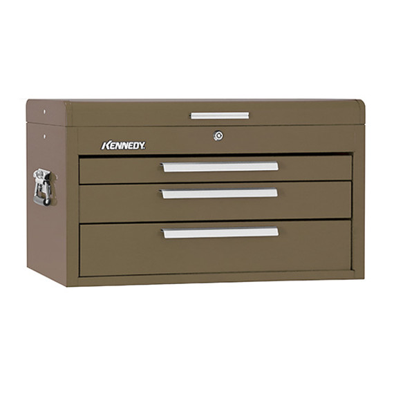 "Kennedy 263B | 26"" 3-Drawer Brown Wrinkle Mechanics' Chest with Tote Tray"