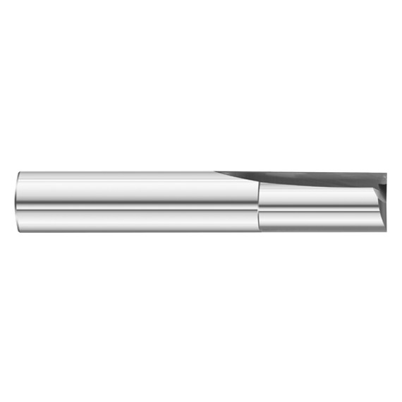 "Fullerton Tool 12142 | 1/4"" Diameter x 1/4"" Shank x 3/4"" LOC x 2-1/2"" OAL 2 Flute Uncoated Solid Carbide Square End Mill"