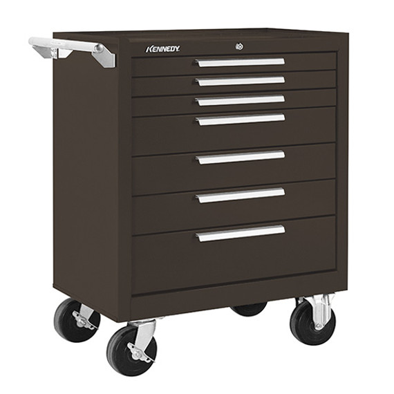 "Kennedy 277XB | 27"" 7-Drawer Roller Brown Cabinet"