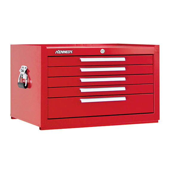 "Kennedy 285XR | 27"" 5-Drawer Red Mechanics' Chest"