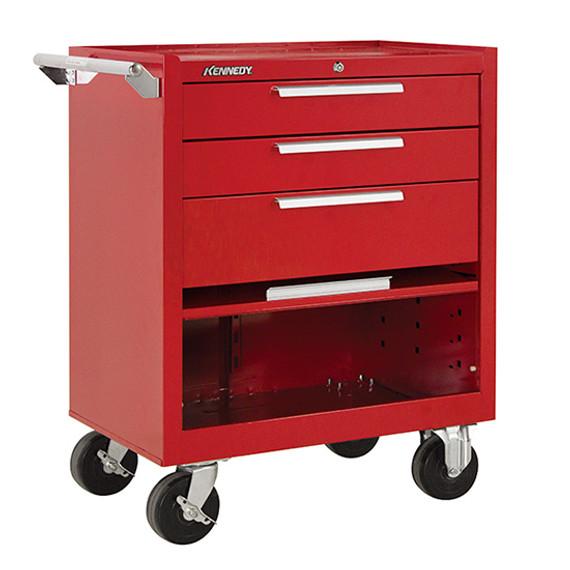 "Kennedy 273XR   27"" 3-Drawer Roller Red Cabinet"