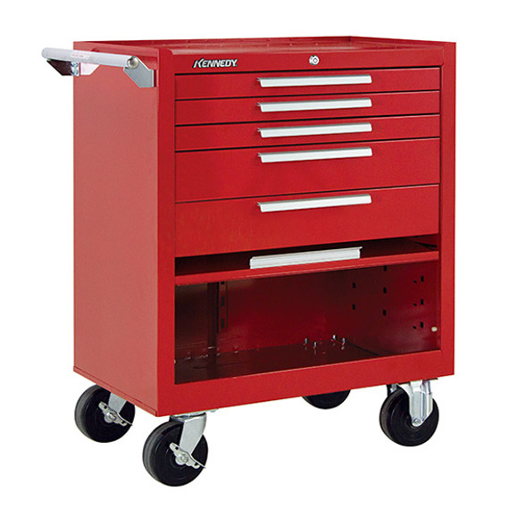 "Kennedy 275XR | 27"" 5-Drawer Roller Red Cabinet"
