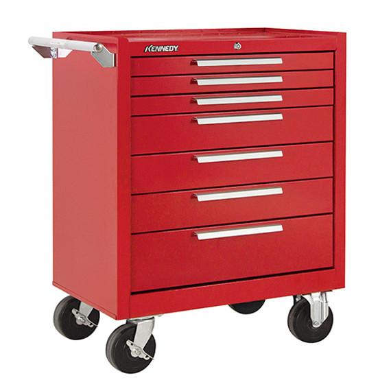 "Kennedy 297XR   29"" 7-Drawer Roller Red Cabinet"