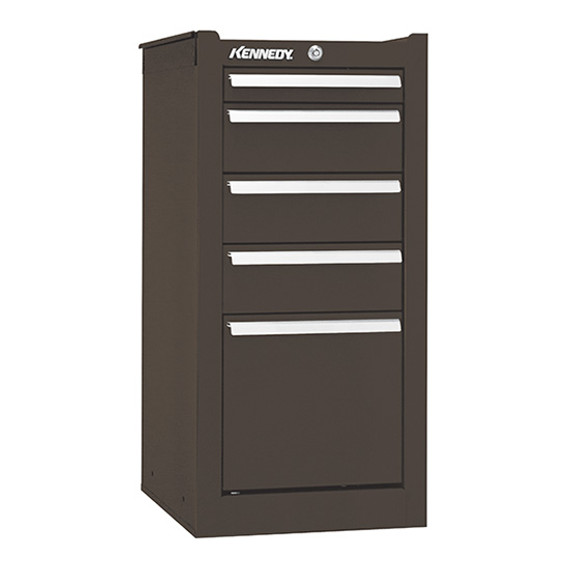 "Kennedy 205XB | 13-5/8"" 5-Drawer Brown Hang-On Cabinet"