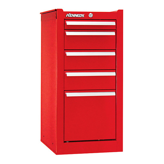 "Kennedy 185XR | 13-5/8"" 5-Drawer Red Hang-On Cabinet"