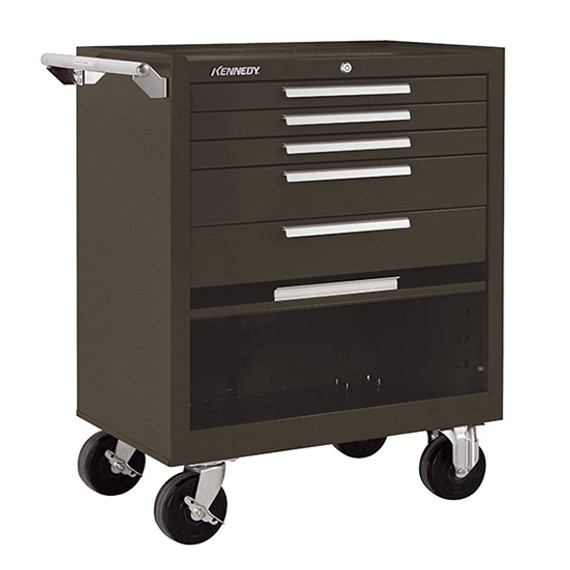 "Kennedy 275XB | 27"" 5-Drawer Roller Brown Cabinet"