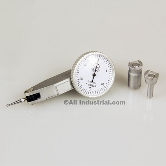 """0.03/"""" Dial Test Indicator High Precision 0.0005/"""" Graduation 0-15-0 White Face"""