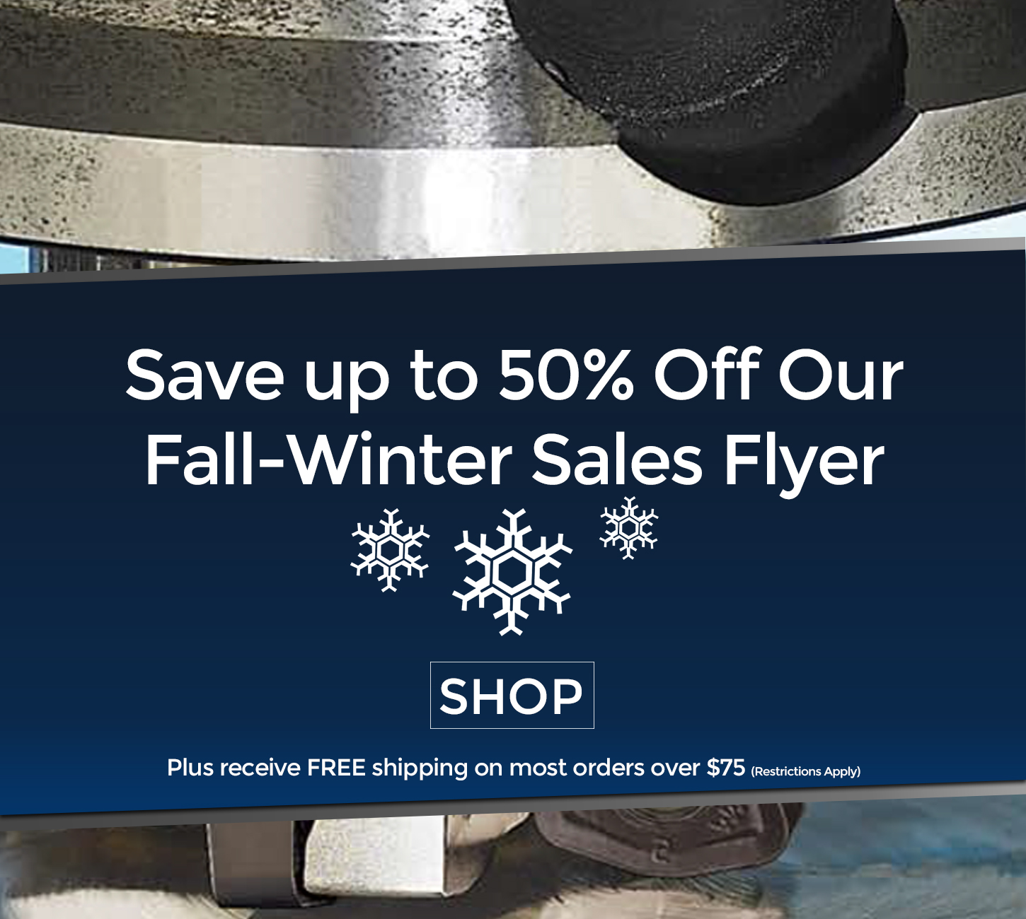 Save up to 50% Off Our Sale Flyer