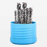 Uncoated Round Shank with Square End H4 Tolerance Finish Plug Chamfer 3//8-24 Thread Size YG-1 T4 Series High Vanadium HSS Spiral Point Combo Tap Bright